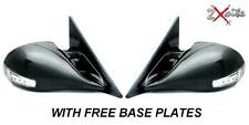 BLACK M3 MANUAL PAIR WING MIRRORS PEUGEOT 307 & LED INDICATORS INC BASE PLATES