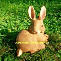 NEW RUBBER LATEX MOULD MOULDS MOLD MAKE SMALL CEMENT GARDEN RABBIT BUNNY #C