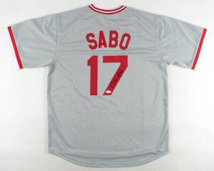 Chris Sabo Signed Cincinnati Reds Jersey (JSA COA) 1988 Rookie of the Year