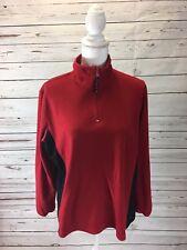 Mash Landing Landing Women's Red 1/4 Zip Fleece Pullover Size L