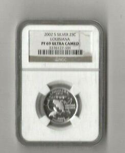 2002 s silver Louisiana statehood quarter NGC PF 69 Ultra Cameo