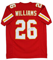 Chiefs Damien Williams Authentic Signed Red Jersey Autographed BAS Witnessed
