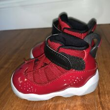 Jordan 6 Rings baby shoes size 4c Gym Red Black 323420 601