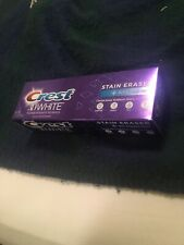 Crest 3D White STAIN ERASER Toothpaste 2 PACK - NEW Sealed Exp.06/2022 FREE SHIP
