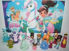 Nella the Princess Knight Figure Set of 12 Toy Kit with 2 Unicorn Rings