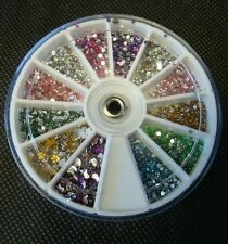 3600 RHINESTONE DIAMONTE CRYSTAL 3D GEM NAIL ART/TIP DECORATION WHEEL