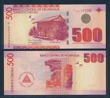 [90754] Nicaragua 2007 500 Cordobas Polymer Bank Note UNC P206b