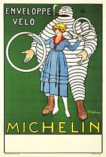 Michelin Ad Poster Vélo by Fabien Fabiano. 1916. 11 x 17 Giclee Poster Print