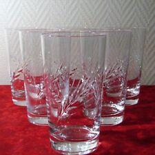 6 grand verre à orangeade en cristal d'arques du modèle Fleury épi