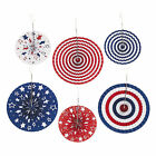 Patriotic Hanging Fans - Party Decor - 6 Pieces