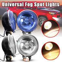2x 12V 55W H3 Motorcycle Fog Spot Light Clear / Blue Lenses Car Van Pickup