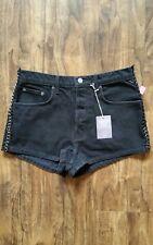 CARMAR Black Side Chain High Rise Denim Shorts NWT sz 28 5/6  (REG $188 )