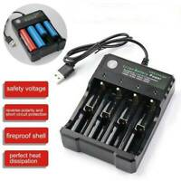 4 Slots USB Intelligent Battery Charger 3.7V 18650 14500 Li-ion Batteries AA AAA
