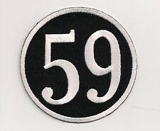 59 Club patch. 3 inch Rocker Ace Cafe Racer Triumph Ton Up