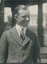 "RARE! 1918 Chick Evans, Original Type 1 Portrait Photo, Measures 7"" x 9.5"""