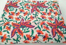 Multi Print Hand Block Print 2.5 Yard Fabric, Cotton fabric Hand Print fabric HG