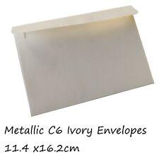 20 x C6 Envelopes For Invitation  Ivory - Metallic Paper 120Gsm 11.4 x16.2cm