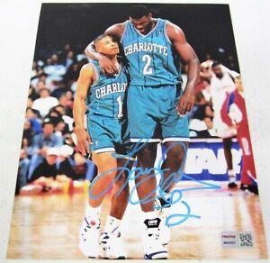 Larry Johnson Charlotte Hornets signed autographed 8x10 Photo Tristar COA