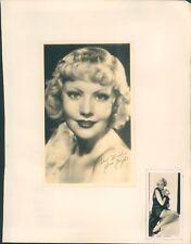 Autograph Hollywood Star June Night 1940's original signature
