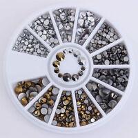 3D Nail Art Studs Acrylic Rhinestones Glitters Stickers Tips Manicure Decoration