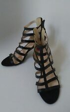 NEW** NINE WEST LEATHER BLACK OPEN SEXY SIZE 8 *FREE SHIPPING*