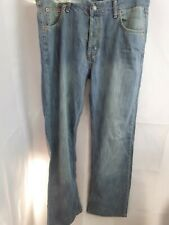 Mens Classic Levies 507 Denim Jeans Button Fly Light Blue Rinse Size W36/34