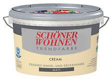schöner Wohnen Wandfarbe Cream 2 5 Liter matt Trendfarbe