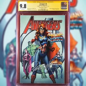 AVENGERS #8 VARIANT COVER A CGC 9.8 SIGNED BY J SCOTT CAMPBELL