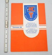 1977 HPC Locksmith Supply Catalog 703 Cutting Machines Key Control Systems