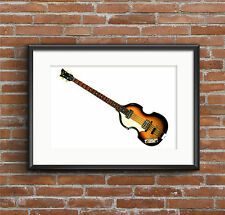 Paul McCartney's 1963 Hofner 500/1 Violin Bass - POSTER PRINT A1 size