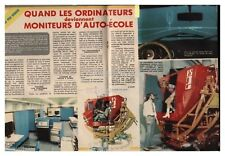 1974 DOCUMENT (ref Cim 1165 ) SIMULATEUR DE CONDUITE AUTO ECOLE  2pages