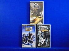 psp MONSTER HUNTER FREEDOM x3 Games 1 + 2 + Unite Playstation PAL UK REGION FREE