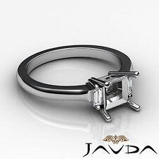 Baguette Princess Mount Three Stone Diamond Engagement Ring Platinum 950 0.15Ct