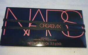 NEW NARS ORGASM X THREE SHADE CHEEK PALETTE WITH BOX
