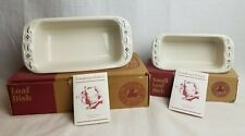 """Longaberger Large 11"""" Loaf Pan Classic Blue & Small Mini Loaf Pan Heritage Green"""
