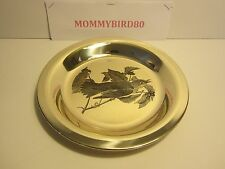 "1973 Franklin Mint Audubon Society ""The Wood Thrush"" Sterling Silver Plate"