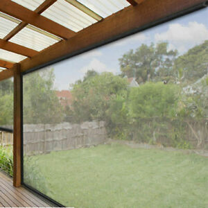 270 X 240cm Patio Blind Clear Bistro PVC Outdoor Veranda Cafe Shade