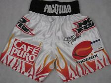 MANNY PACQUIAO PAC MAN  Hand Signed Boxing Trunks Shorts + PSA DNA COA X47376