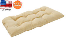 Bossima Outdoor Cushion Patio Porch Wicker Swing Bench Loveseat Pad Cream
