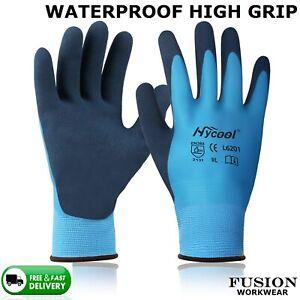 WATERPROOF GLOVES, BLUE AQUA,LIQUID PRO, LATEX GRIP GLOVES,WONDER GRIP,WORK.ap80