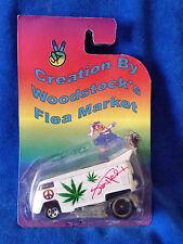 Jimi Hendrix Custom Hot Wheel 1:64 Drag Volkswagen Bus - Peace and Pot Leaf