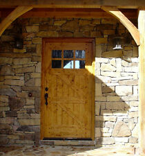 "RUSTIC CRAFTSMAN KNOTTY ALDER ""Z"" STYLE ENTRY DOOR 42"" x 80"""