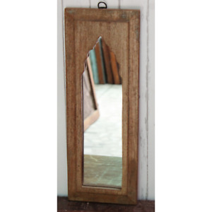 vintage wall art decor wooden frame with mirror living room wall hanging mirror