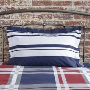Charlotte Thomas Carson Navy & White Striped Oxford Pillowcase 50 x 75cm Bedding