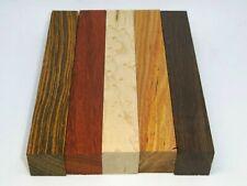 Exotics Hardwood-Pen Blank (5 pc)Wenge,Bocote,Maple B.Eye,Afr.Paduk,Canarywood
