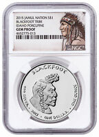 2015 Native Silver Dollar Blackfoot Porcupine 1 oz Silver NGC Gem PF SKU52727