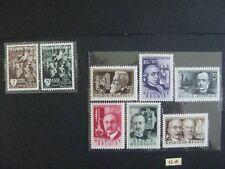 timbres belges : 1955 romantisme, inventeurs COB n° 971 à 978 **