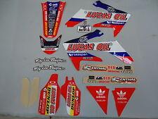 Honda CRF250 2004-2009 Troy Lee Designs Team Lucas Oil graphics kit EJ2001