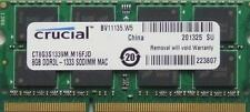 8GB ram for Apple iMac 2.7GHz Intel Quad-Core i5 (21.5 & 27-inch -DDR3) Mid 2011