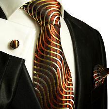 Braune Krawatten Set 3tlg 100% Seide Paul Malone 751